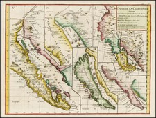 Baja California and California Map By Denis Diderot / Didier Robert de Vaugondy