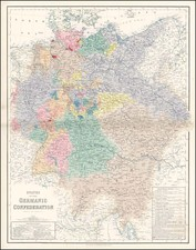 Europe, Netherlands, Germany, Austria, Poland and Hungary Map By Archibald Fullarton & Co.