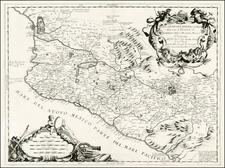 Mexico Map By Vincenzo Maria Coronelli