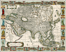 Asia and Asia Map By John Overton