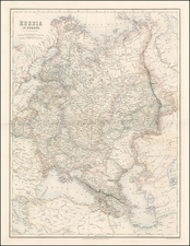 Russia Map By Archibald Fullarton & Co.