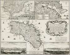 Spain and Balearic Islands Map By John Rocque