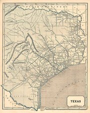 Texas and Southwest Map By Sidney Morse  &  Samuel Breese