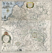 Poland, Russia, Ukraine and Baltic Countries Map By Willem Janszoon Blaeu / Hessel Gerritsz