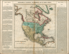 North America Map By Henry Charles Carey  &  Isaac Lea