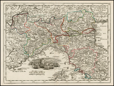 Italy Map By George Louis Le Rouge