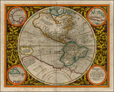 World, Western Hemisphere, Polar Maps, South America and America Map By Michael Mercator