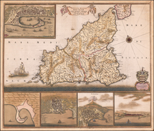 Sicily Map By Frederick De Wit