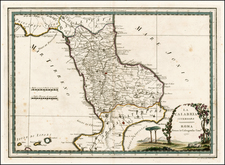 Italy Map By Giovanni Maria Cassini