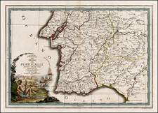 Portugal Map By Giovanni Maria Cassini