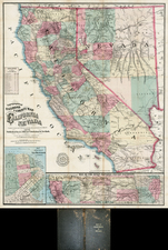 Southwest and California Map By Louis Nell  &  A.C. Frey