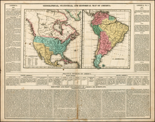 South America and America Map By Henry Charles Carey  &  Isaac Lea