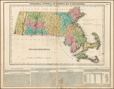 New England and Massachusetts Map By Henry Charles Carey  &  Isaac Lea