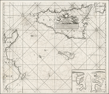Italy, Mediterranean, Balearic Islands, North Africa and African Islands, including Madagascar Map By Johannes Van Keulen