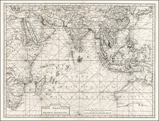 Indian Ocean, China, Japan, Korea, India, Southeast Asia, Philippines, Other Islands, Australia and Other Pacific Islands Map By Francois Valentijn
