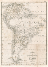 South America Map By Pierre Antoine Tardieu