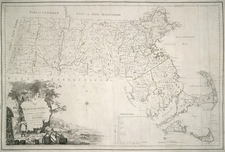 New England and Massachusetts Map By Osgood Carleton