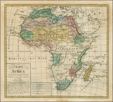 Africa and Africa Map By Franz Ludwig Gussefeld