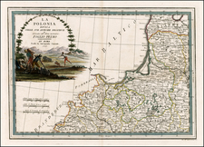 Poland and Baltic Countries Map By Giovanni Maria Cassini