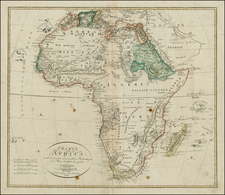 Africa and Africa Map By Iohann Matthias Christoph Reinecke