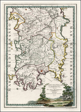 Italy and Balearic Islands Map By Giovanni Maria Cassini