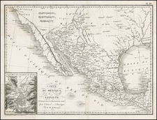 Southeast, Texas, Mexico, Caribbean and Central America Map By Pierre Antoine Tardieu