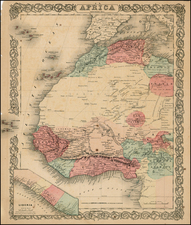 Africa Map By Joseph Hutchins Colton