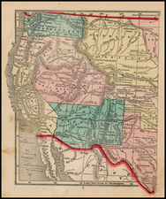 Texas, Plains, Southwest, Rocky Mountains and California Map By Sidney Morse  &  Samuel Gaston