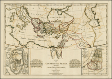 Mediterranean, Central Asia & Caucasus, Middle East and Holy Land Map By Samuel Dunn