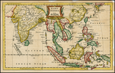 China, India, Southeast Asia and Philippines Map By Thomas Jefferys