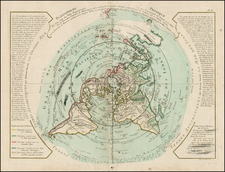 World, Northern Hemisphere, Polar Maps, Alaska, Canada and Australia Map By Jean André Dezauche