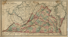 Mid-Atlantic and Southeast Map By Matthew Fontaine Maury - Charles L. Ludwig