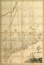 New England Map By Osgood Carleton