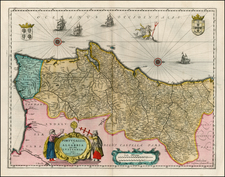 Portugal Map By Willem Janszoon Blaeu