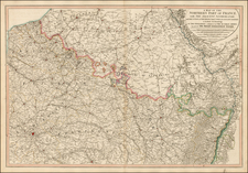 Belgium, Luxembourg, France and Germany Map By William Faden