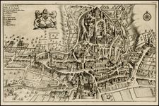 Switzerland Map By Pieter van der Aa
