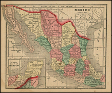 Mexico Map By Sidney Morse  &  Samuel Gaston