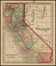 California Map By Sidney Morse  &  Samuel Gaston