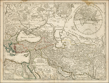 Russia, Greece, Turkey, Mediterranean, India, Central Asia & Caucasus, Middle East, Holy Land and Turkey & Asia Minor Map By Guillaume De L'Isle / Jean André Dezauche