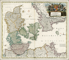 Germany and Scandinavia Map By Johann Baptist Homann