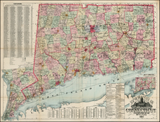 New England Map By J.B. Beers