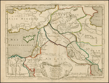 Other Islands, Central Asia & Caucasus, Middle East, Turkey & Asia Minor, Egypt and Balearic Islands Map By Philippe Buache