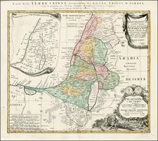 Holy Land Map By Johann Christoph Harenbergh