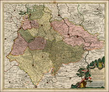 Germany Map By Justus Danckerts