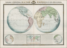 World and World Map By F.A. Garnier