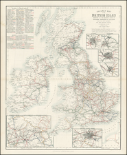 British Isles Map By Archibald Fullarton & Co.