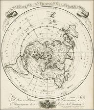 World, Northern Hemisphere and Polar Maps Map By Jean-Claude Dezauche