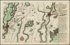 New England Map By Christian Friedrich von der Heiden