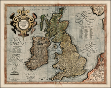 British Isles Map By  Gerard Mercator