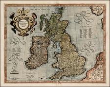 British Isles Map By  Gerard Mercator